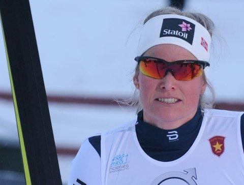 Sterkt løp: Mari Eide gikk lett videre fra sprintprologen under ski-NM fredag.