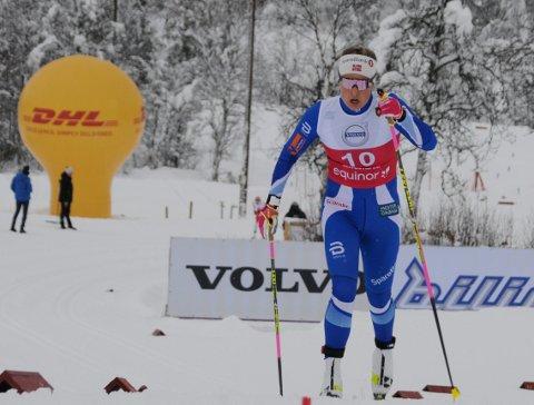 Ga seg: Mari Eide gikk bare to av de tre rennene i verdenscupen i Ruka.
