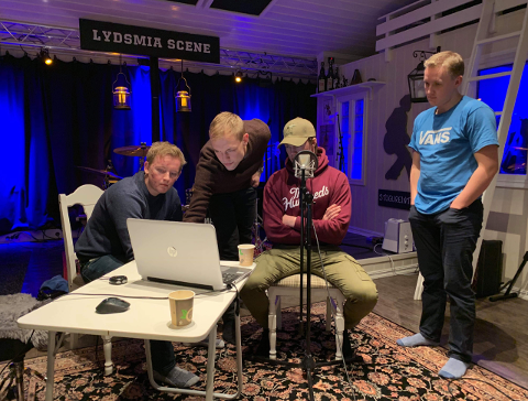 MELLEPODDEN: Jørgen Holden, Sondre Aastveit og Øyvind Lunde Christiansen .