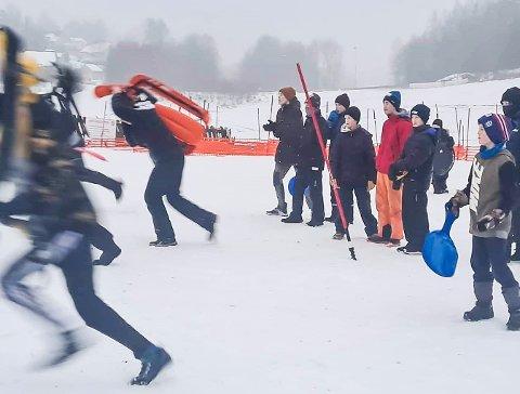 Klar, ferdig, gå! Det viktigste var å delta, men konkurranseinstinktet var like fullt til stede hos deltagerne.