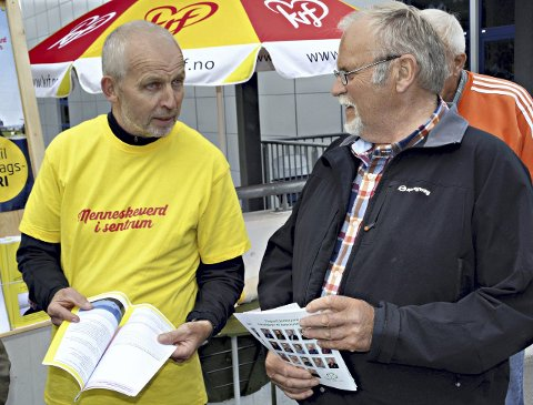 KOMMUNEREFORM: Ulikt syn mellom Gunnar Waagen (KrF) og Lars Jostein Holten (Sp).