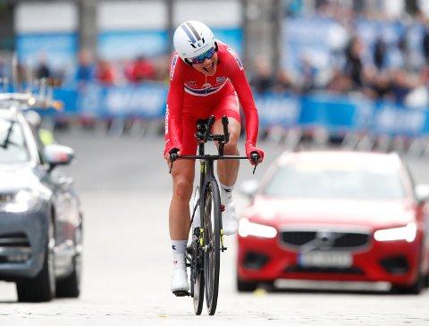 Vita Heine fra Bergen tok en respektabel 24.-plass på temporittet i sykkel-VM i Innsbruck tirsdag.