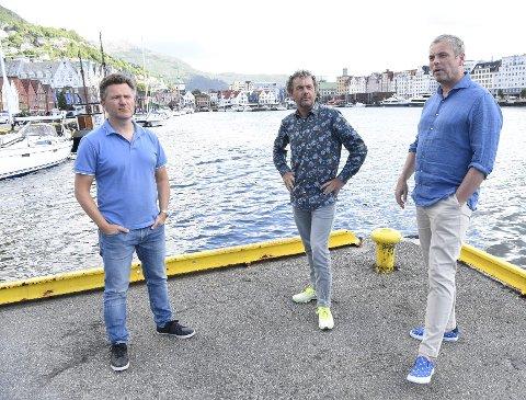Arild Mjøs Andersen (president i Norges Triatlonforbund), Geir Iden (leder i Åsane CK) og Trond Ahlsen (medlem i Bergen Triathlon Club og TV 2s prosjektleder under sykkel-VM i 2017) vil hente verdenseliten i triatlon til Bergen sentrum.