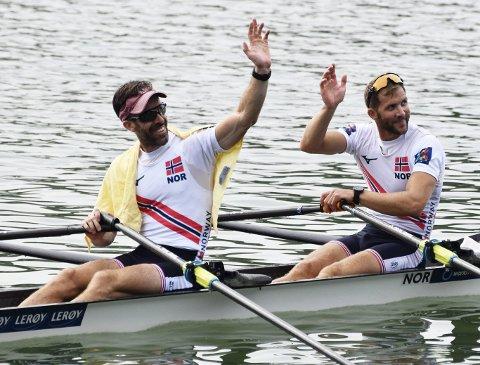 Are Strandli og Kristoffer Brun er «alltid» på pallen når de ror lettvekt dobbeltsculler. I helgens EM ror de i «åpen klasse», og allerede fredag kunne de vinke farvel til medaljesjansene.