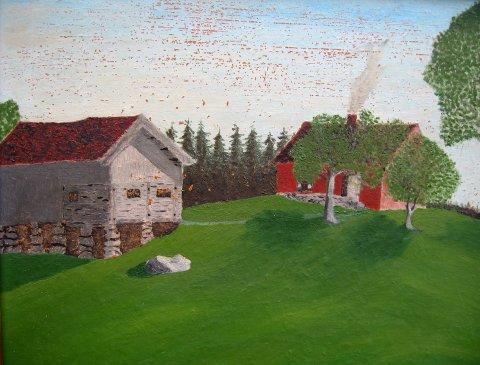 Gammelt maleri av plassen Finland.