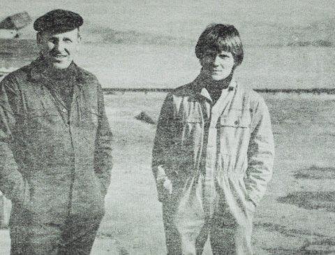 FRÅ ARKIVET: Rune Stave saman med far Per Stave som han overtok etter  i 1995. Foto: Fjt