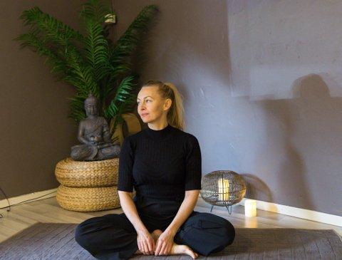 PUST: Fokuset på kurset «Yoga for gravide» er pusten. Ho håpar dei gravide kan ta med seg pusteteknikkar gjennom svangerskapet og i fødselen.
