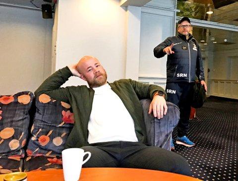Eirik Haugdal (til venstre) kan ikke få fullrost trenernettverket til Olympiatoppen Østlandet, hvor han blant annet har Spartas hockeytrener Sjur Robert Nilsen som samtalepartner.