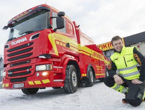 BEREDT: Bilberger Lars Erik Karlsson er klar for det første snøfallet.
