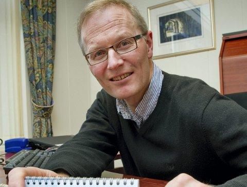 – VELKOMMEN!: – Regionbanksjef Per Nygaard i Sparebanken Hedmark ønsker Næringsbanken velkommen.FOTO: JENS HAUGEN
