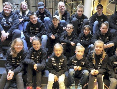 Samlet: Utøverne fra Eidskog Sportsskyttere hadde en strålende helg både sportslig og sosialt i forbindelse med Ungdomslekene på Lillehammer i helga. FOTO: PRIVAT