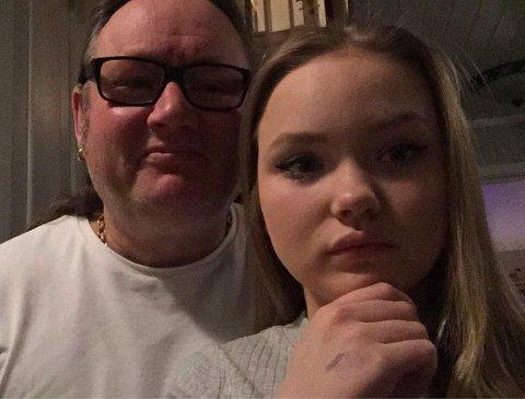 Far og datter: Det er fem år siden Sigrid mistet sin.