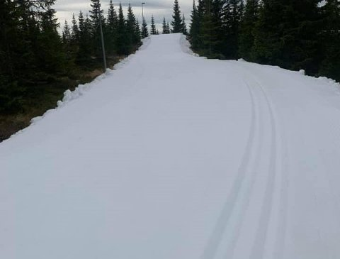 Rundt 800 meter skiløype er klar.