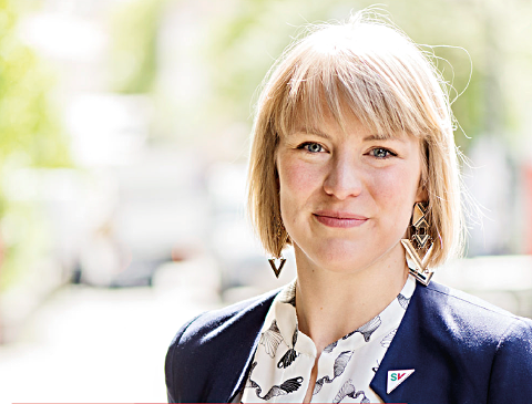 TIL HADELAND: SVs partisekretær Kari Elisabeth Kaski.