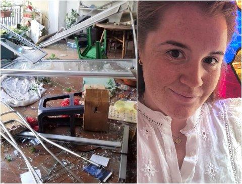 LEILIGHETEN: Her bodde Tonje Mossing i åtte måneder i fjor. Nå er vinduene blåst inn i leiligheten.