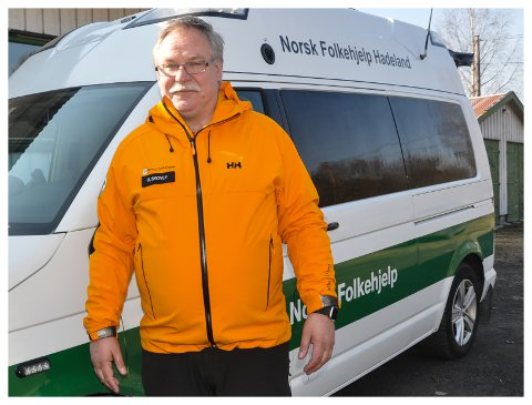 ROLIG: Det har vært en rolig høytid for Guttorm Skovly og Norsk Folkehjelp Hadeland. Neste uke blir det mer travelt, i forbindelse med vaksinering i Lunner kommune.