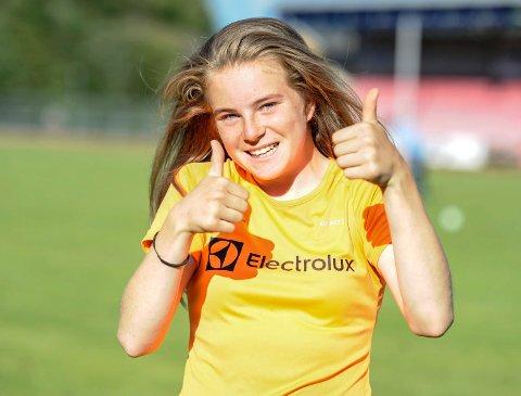 TALENT: Henriette Jæger løp nylig 60 meter på råsterke 7,74. Neste helg venter innendørs-NM.