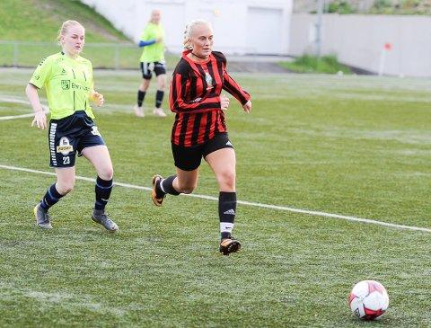 HATTRICK: Heidi Norderhaug Andersen klinket til med et hattrick for TTIF da de slo Indre Østfold 2 mandag.