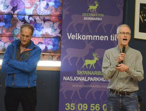 Ragnar Ystanes og Petter Hopp frå Veterinærinstituttet informerte om smitteoppdagelsesmodell og status for CWD hos villrein under Hardangervidda villreinutval sitt vårmøte på Skinnarbu laurdag. Ystanes er nøgd med møtet.