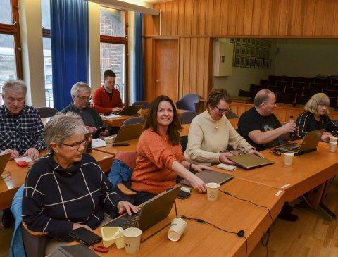 Utval for samfunn, plan og næring i Ullensvang kommune. Her frå møtet i midten av mars. Arkivfoto: Ernst Olsen