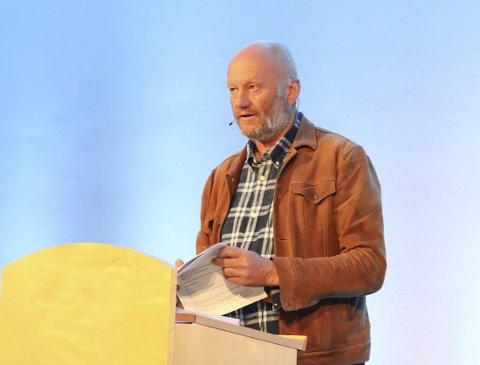 Framtida: Stein Lier-Hansen, som er tidlegare statssekretær i Miljøverndepartementet og generalsekretær i NJFF, heldt innlegg om jakt, fiske og rekreasjon på Hardangervidda dei neste 40 åra.