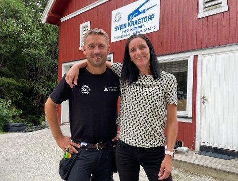 SØSKENKJÆRLIGHET: Jørn og June Kragtorp har tatt over pappa Sveins rørleggerbedrift og er enige om det meste i hverdagen.