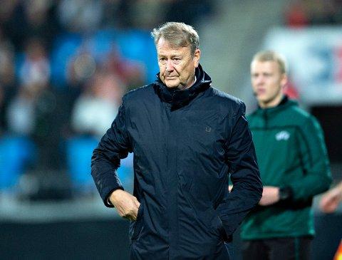 Åge Hareide, her som dansk landslagssjef i slutten av fjoråret, kan fort bli enig med RBK denne høsten. Da blir det i så fall comeback for mannen som ledet RBK til to gull i 2003. Foto: Henning Bagger / Ritzau Scanpix) / NTB scanpix