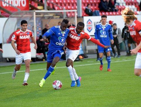 UAVGJORT: Moses Dramwi Mawa og KFUM/Oslo måtte nøye seg med ett poeng mot Kongsvinger.