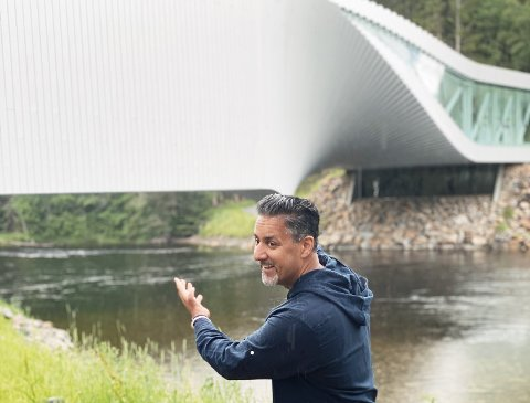 THE TWIST: Abid Raja lot seg imponere på Kistefos.