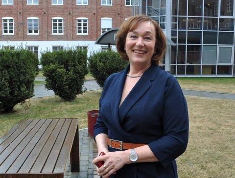 15 FANTASTISKE ÅR: Inger Sverresson slutter i jobben som direktør i PM International Norge på Mustad til sommeren.  – Jeg har hatt 15 fantastiske år i selskapet, sier hun.
