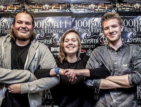 Taala: Sander Nilsen, Johan Fredrik Stensrud og Anniken Semb Kvalsund er et ferskt band.