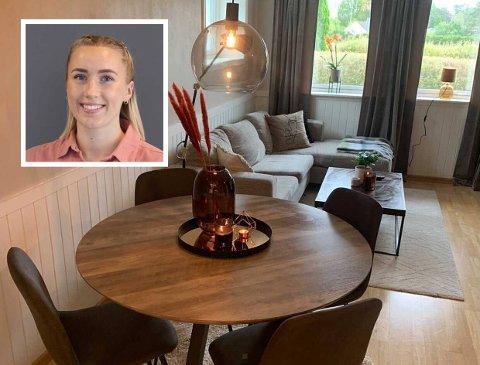 FØRSTEGANGSKJØPER: Stine Svensen (22) synes det var vanskelig å finne en ålreit leilighet til en grei pris.