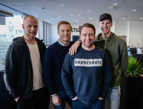 KEEPERGJEST: Emil Holst, Ulrik Balstad, Jan Morten Frengstad og Magnus Torp Antonsen.