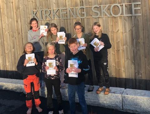SFO-AVISA: Bygdas ferskeste avis er utgitt av elever ved SFO på Kirkeng skole.