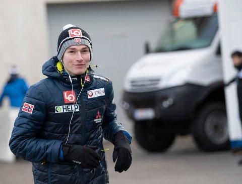 Robin Pedersen er tilbake i verdenscupen. Her avbildet i Innsbruck i Østerrike. Foto: Geir Olsen / NTB Scanpix