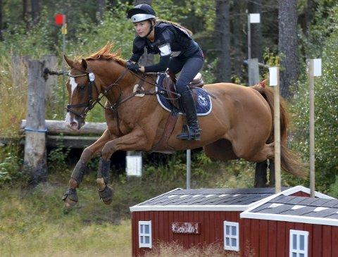 I terrenget: Ida Amalie Jenssen er en av deltakerne i helgen.Foto: Privat