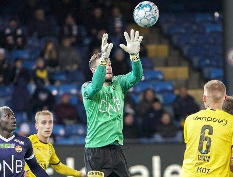 Sterkt ønsket: Marko Marics storspill i Drammen sørget for ett LSK-poeng. Foreløpig er det høyst usikkert om keeperen spiller på Åråsen også i 2020. Foto: NTB scanpix