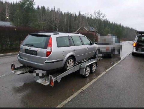 STANSET: Da Statens vegvesen kontrollerte denne bilen fant de flere feil.