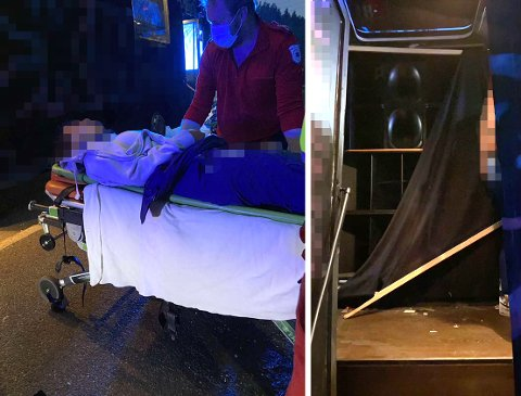 FLERE TIL SYKEHUS: To personer ble kjørt til sykehus og ytterligere seks personer måtte på legevakta etter hendelsen natt til torsdag.