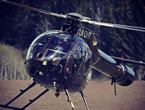 FLYR OVER DISTRIKTET: Dette helikopteret vil bli hyppig sett og hørt over Romerike de neste ukene.