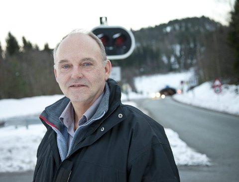 HELE VEIEN: Trond Røed (Frp) vil ha fire fel hele veien fra E6 til E18.