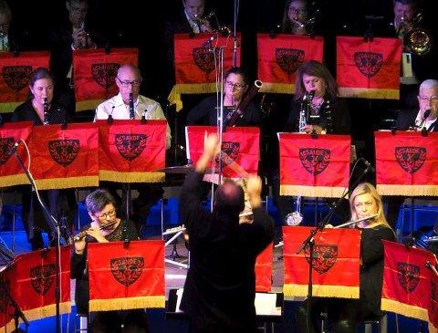 Konsert: Sande musikkorps spilte under ledelse av dirigent Thomas Rimul. Alle foto: Svein-Ivar Pedersen