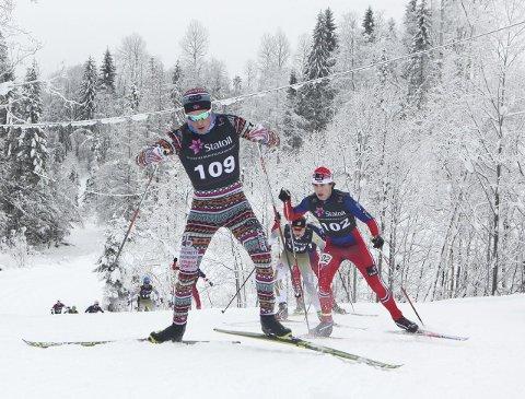 Opp og ned: I det kalde været fredag fikk ikke Vebjørn Hegdal vist sitt beste, men i «mildværet» lørdag og søndag slo han til som han så ofte gjør. Foto: Erik Borg