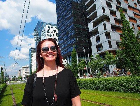 PROSJEKTLEDER: – Vi skal gjennomføre geografiske analyser av området som i kommuneplanen blir kalt Gang- og sykkelbyen, sier Anne Bertine Fagerheim i Rambøll.