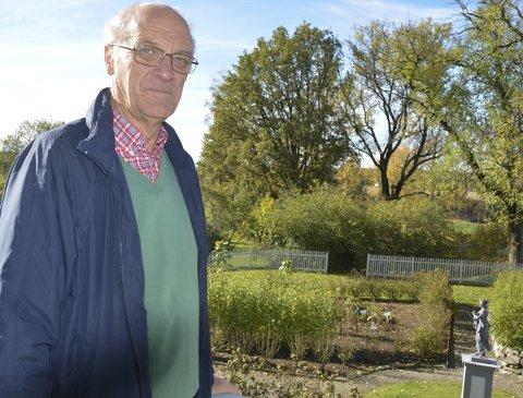 Hagegruppen: Ellef Mørk (71) er koordinator for hagegruppen på Spydeberg prestegård.