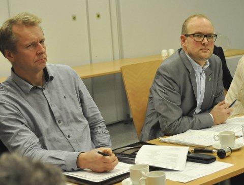 Bytter plass: Mandag kveld er det klart at Saxe Frøshaug (t.v.) overtar plassen til ordfører Ole André Myhrvold som ber om fritak. Arkivfoto