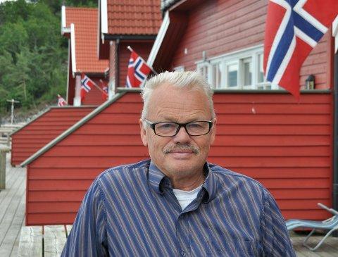 FERIESENTER: Terje Mosnes er uroa for kva følgjer koronasituasjonen får for Solvåg Fjordferie på sikt, men trøyster seg med at det er mange bestillingar neste sesong.