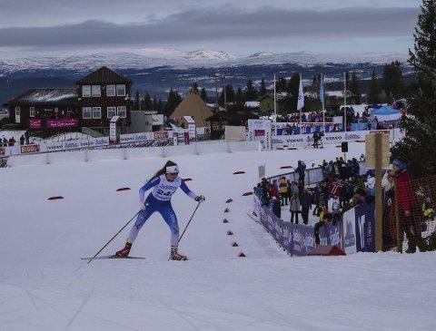 FORNØYD: Hanna Kristine Larsen var ett fattig sekund unna en finaleplass under den skandinaviske cupen på Nes.
