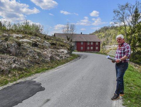 Våland: Gunnar Oddne Waagestad søker om dispensasjon for å kunne bygge nærmere veien. Arkiv