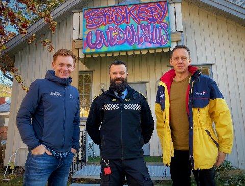 Natteravner: – Vi ønsker oss flere frivillige til å gå natteravn, sier trioen Håvard Halvorsen, Bård Einar Høston og Øystein Hovrud.